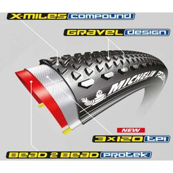 MICHELIN POWER GRAVEL 700x40C 40-622 TLR DIŞ LASTİK - Thumbnail